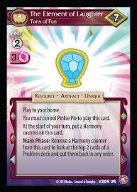 My Little Pony The Element of Laughter, Tons of Fun Absolute Discord CCG Card