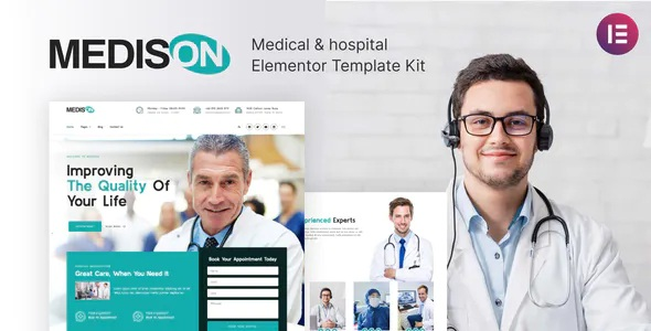 Best Hospital and Healthcare Clinic Elementor Template Kit
