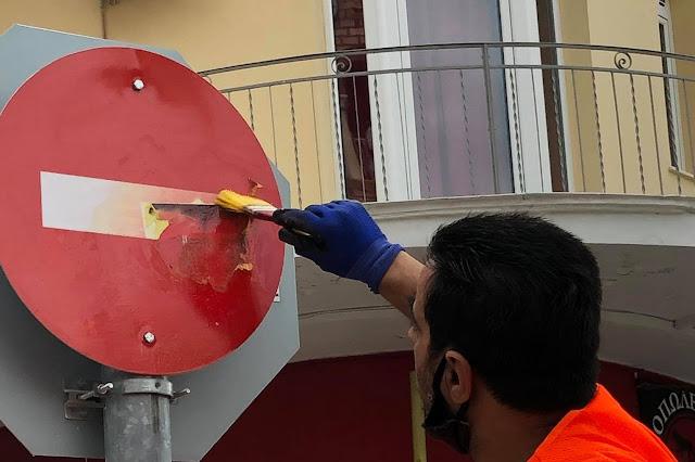 Τομέα Καθαριότητας Δήμου Άργους Μυκηνών: Με καθαρές πινακίδες συμβάλουμε όλοι στην οδική ασφάλεια