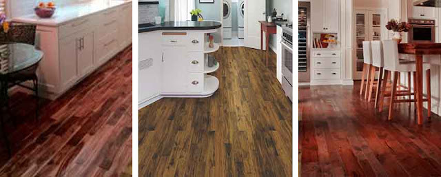 lantai kayu parket dapur