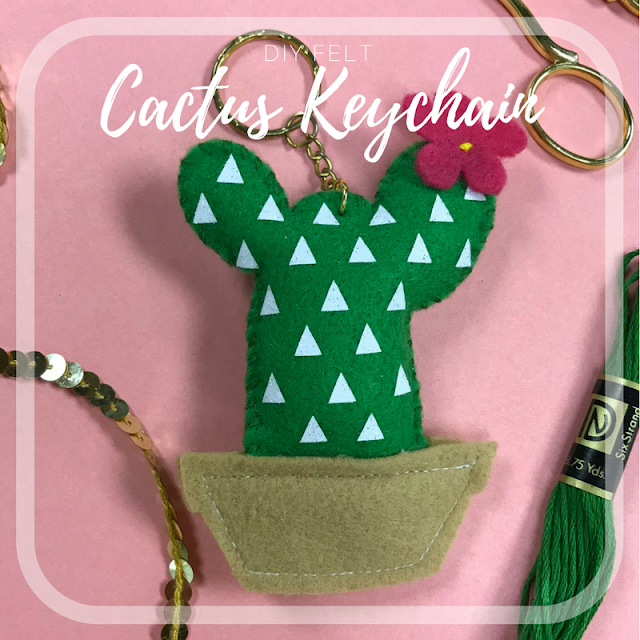 Create these fun DIY Cactus Keychains with Cricut!