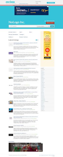 Tampilan Situs Lowongan Kerja Gratis dengan OSClass