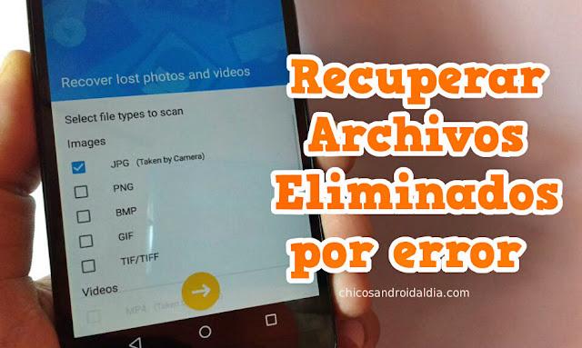Recuperar archivos eliminados por error con dr.fone