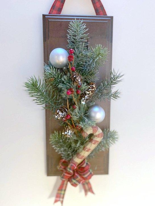 Quick and Easy DIY Cabinet Door Christmas Wreath