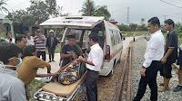Tubuh Boru Simarmata Terpotong Akibat Di Tabarak Kereta Api