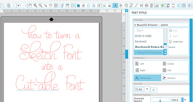 Silhouette Studio, Silhouette Curio, sketch fonts, cuttable fonts, fonts