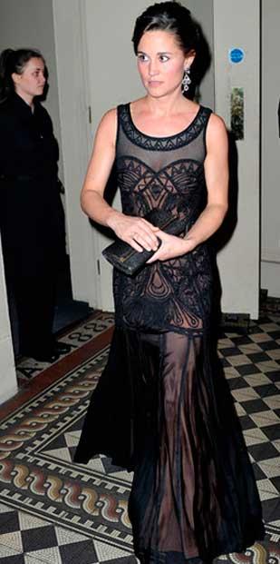Pippa Middleton look vestido preto, irmã da Kate