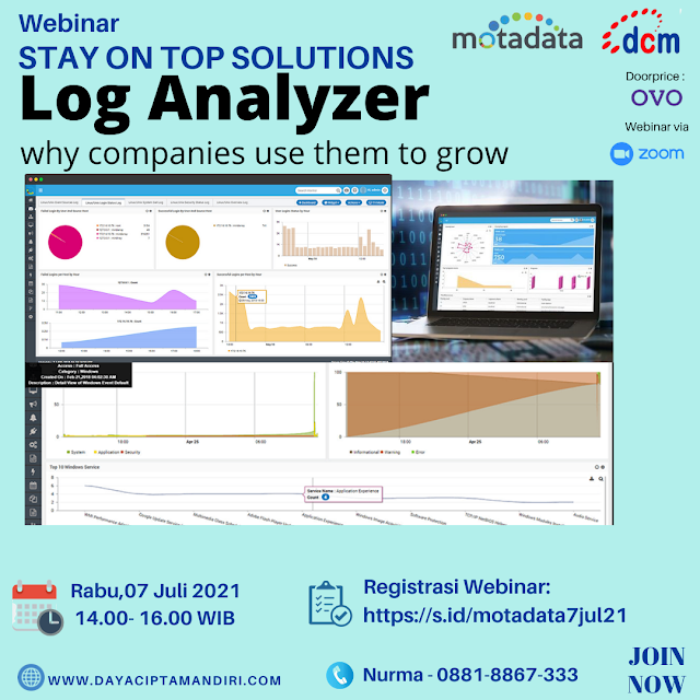 Webinar STAY ON TOP COMPANIES use LOG ANALYZER - 07 Juli 2021
