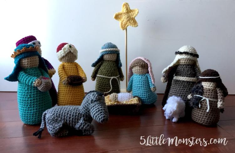 5 Little Monsters: Three Wise Men: Crochet Nativity Add-On