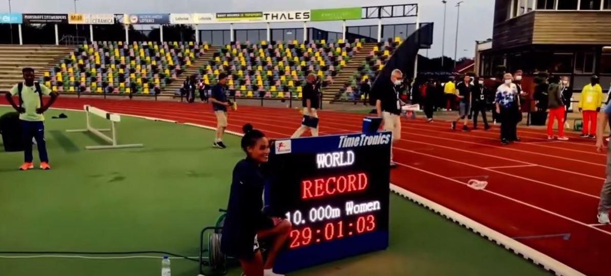 Letesenbet Gidey record 10000 m