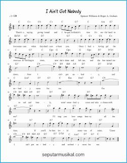 chord i ain't got nobody lagu jazz standar