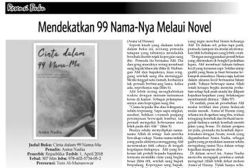Mendekatkan 99 Nama-Nya Melaui Novel