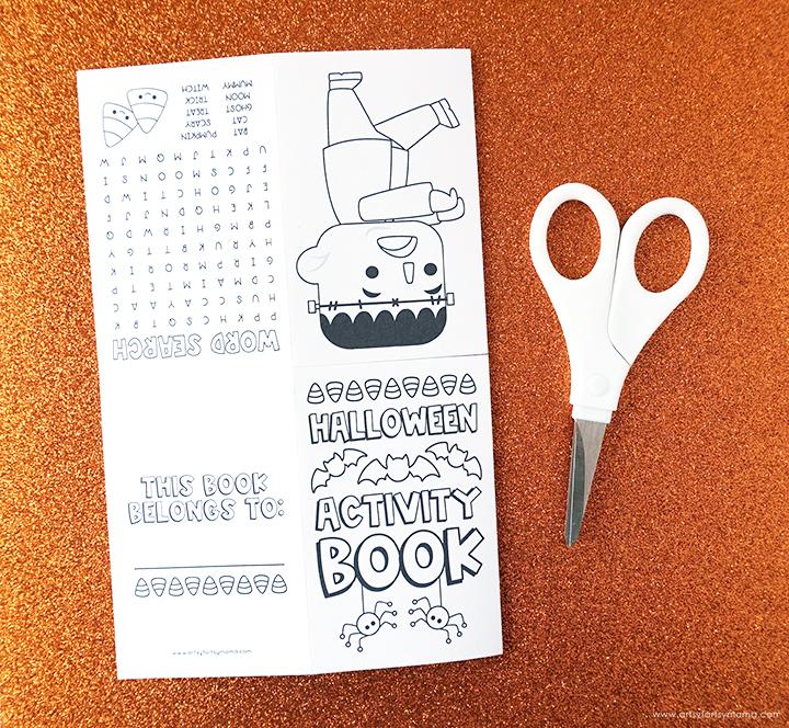 Halloween Printable with Scissors