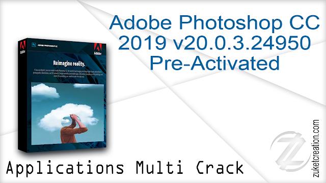 Adobe Photoshop CC 2019 v20.0.3.24950 Pre-Activated