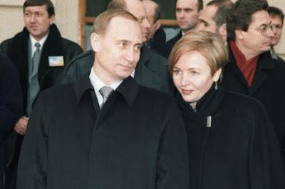 Vladimir Putin and his wife Lyudmila Putina