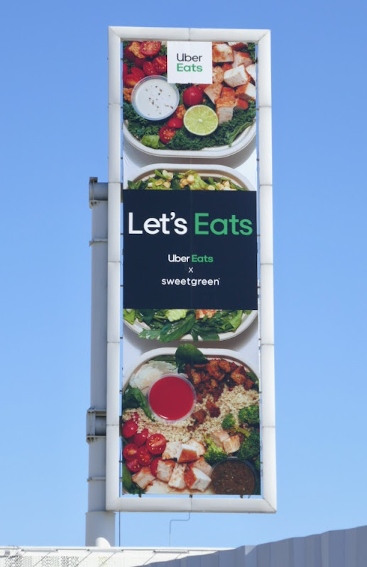 Uber Eats Sweetgreen billboard