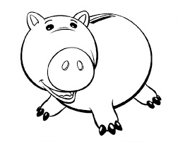 Fat Piggy Bank Coloring Pages For Print