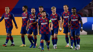 Barcelona have oldest squad among Champions League teams