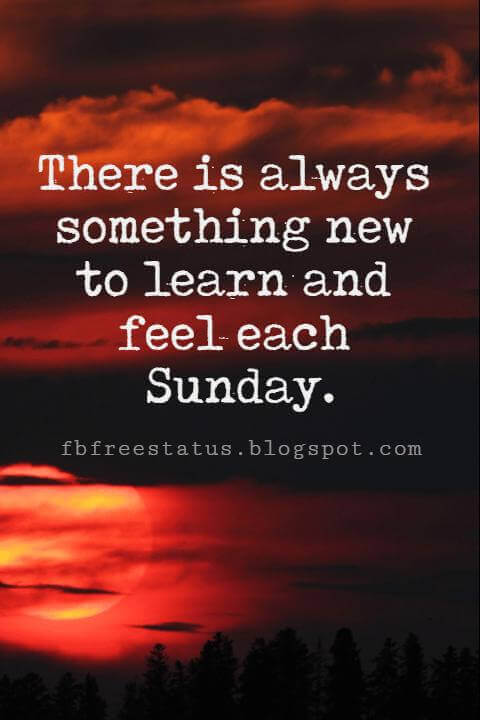 Sunday Morning Inspirational Quotes, There is always something new to learn and feel each Sunday.