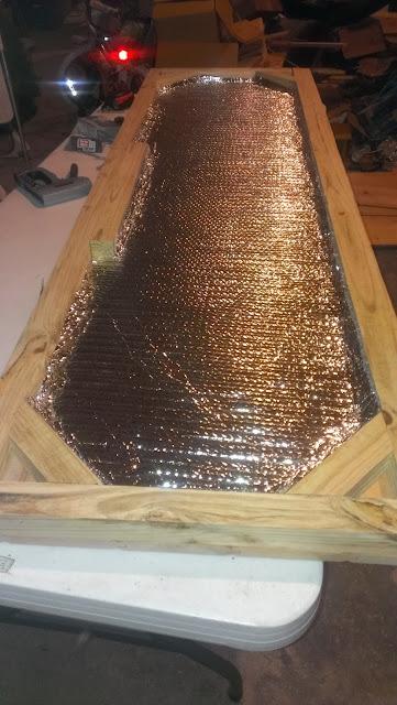 Door insulation to keep the sauna hot!