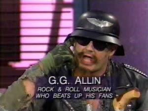 GG Allin rock n roll musician who beats up his fans #PMRC PunkMetalRap.com