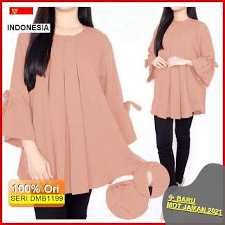 Dmb1199 Fashion Atasan Erlinda Blouse Top Simpel Hits Wanita Muslimah Hijab