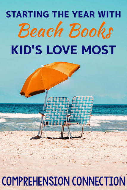Kids LOVE the beach, and so do we! This post includes the best beach themed books I've found. They're great for back to school.