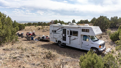 Boondocking again at the Penrose BLM Area - Pre-Group-Arrival