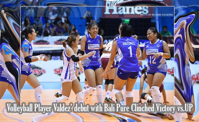 Volleyball Player Valdez' debut with Bali Pure Clinched Victory vs.UP