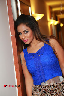 Telugu Actress Srilekha Reddy Latest HD Pos in Sleeveless Blue Top at Muse Art Gallery  0059.JPG