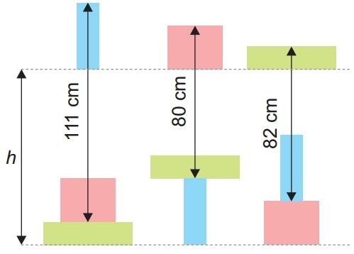 OBMEP 2019 Na figura, os lados dos retângulos são horizontais ou verticais, e os retângulos de mesma cor são idênticos