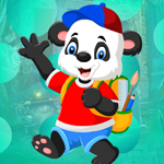Play Games4King - G4K Artsy Panda Bear Escape Game