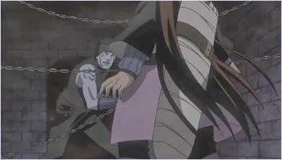 คิซาเมะฆ่าฟุกูคิและชิงดาบหนังฉลามไปครอง