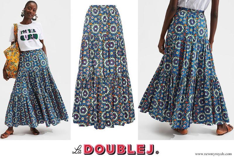 Princess Alexandra of Hanover wore a La DoubleJ Big Skirt Kaleidoscope Bluette in Cotton Poplin
