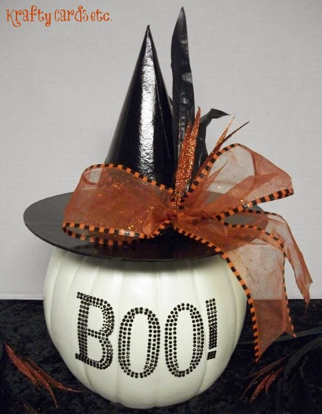 Boo Witch Hat Pumpkin from Crafty Cards Etc.