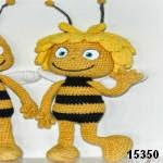 patron gratis abeja Maya amigurumi, free amiguru pattern Maya bee
