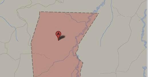 Peta desa Manunggal Jaya