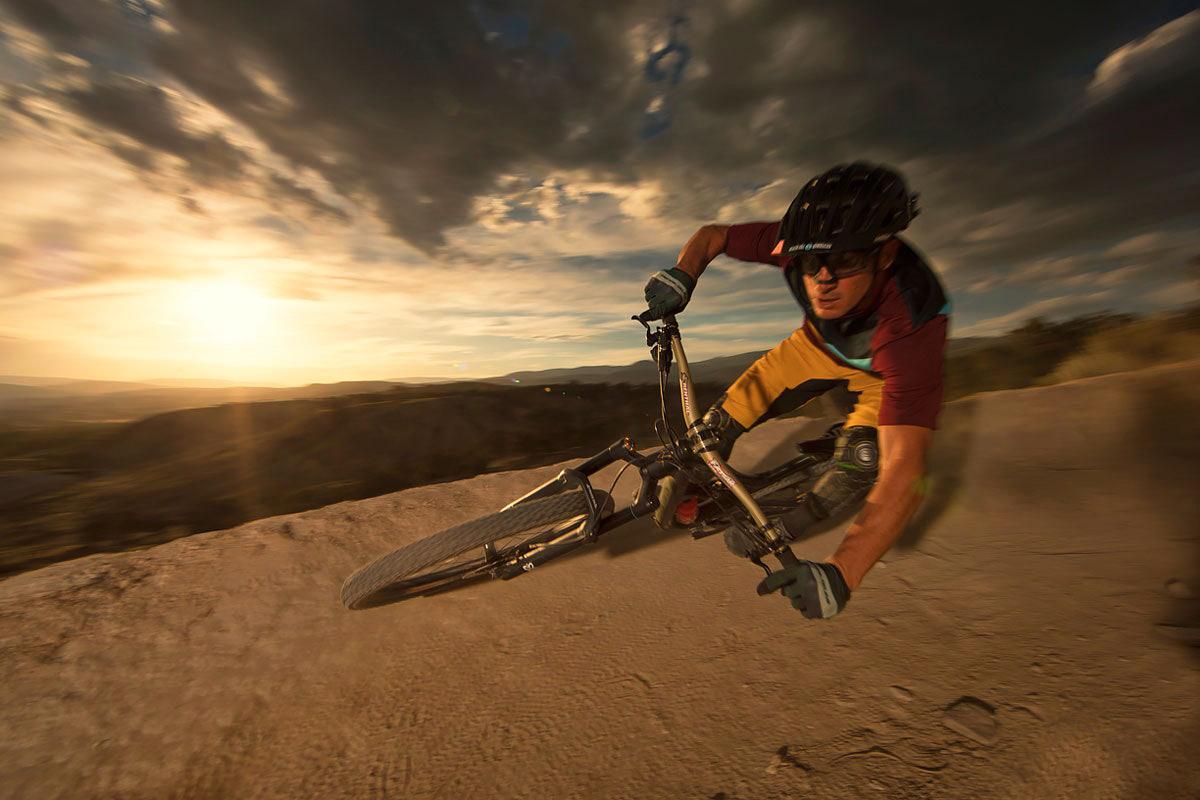 sunset landscape keren fotografi jatuh naik sepeda