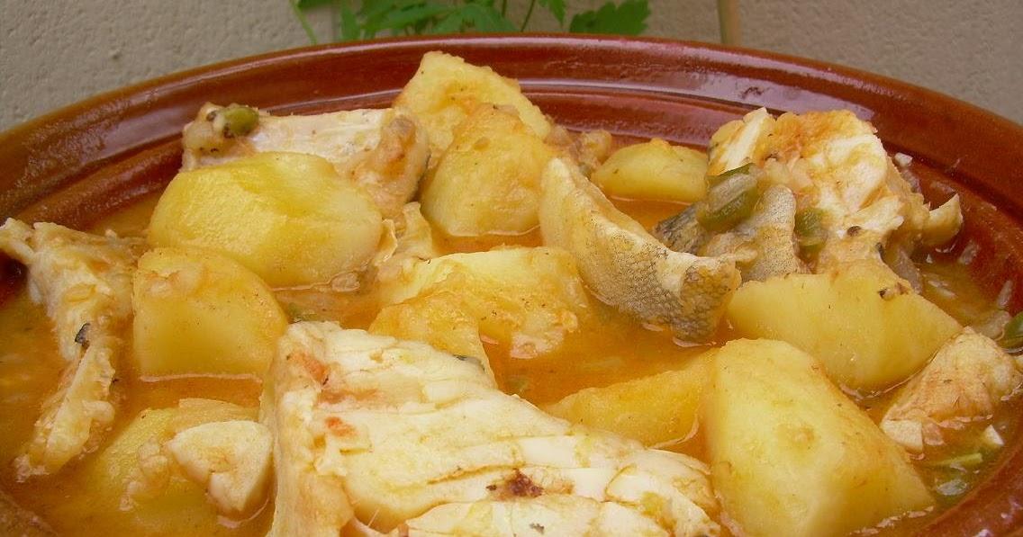 Maricacharros guiso de bacalao con patatas - Patatas en caldo con bacalao ...
