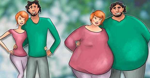 Las parejas que se aman de verdad tienden a engordar, según estudio