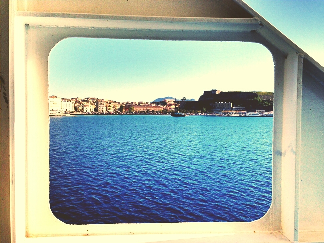 Corfu view from ferryboat