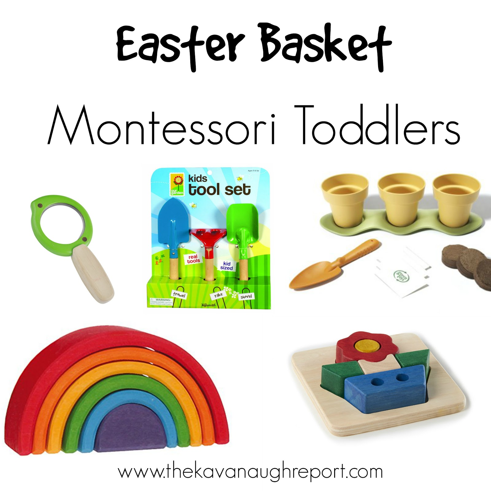 Easter baskets for montessori babies toddlers and preschoolers montessori friendly easter basket ideas for babies toddlers and preschoolers negle Image collections