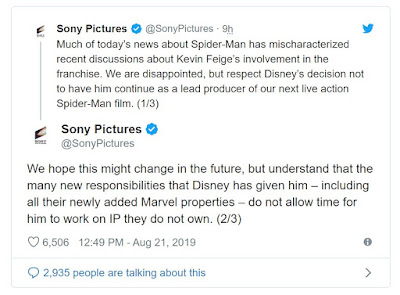 Sony pulls Spider-Man out of the MCU official statement