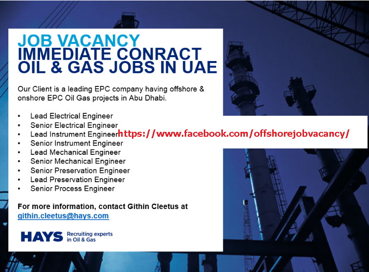 Offshore Job: Job Vacancy Oil And Gas UAE Latest