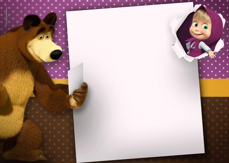 Мороз прикольные, как сделать открытку маша и медведь