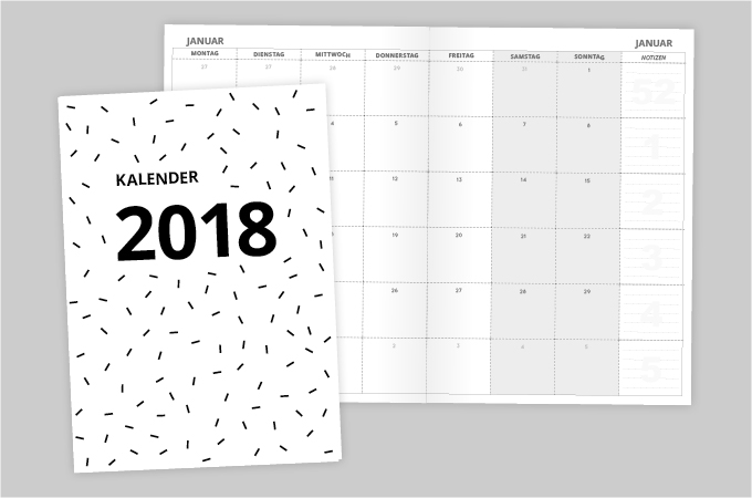 Aentschies Blog Kalender 2018 A5 Monatskalender