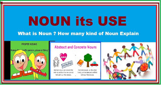 noun definition and examples and types