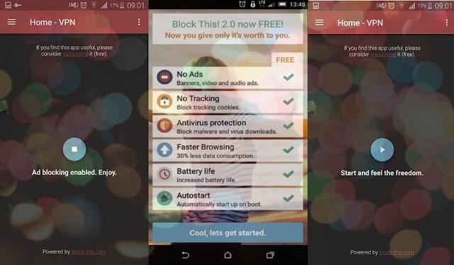 حضر منع الاعلانات على هاتف الاندرويد بدون روت مع تطبيق BLOCK THIS