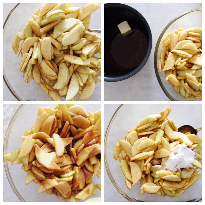 preparing the apple filling