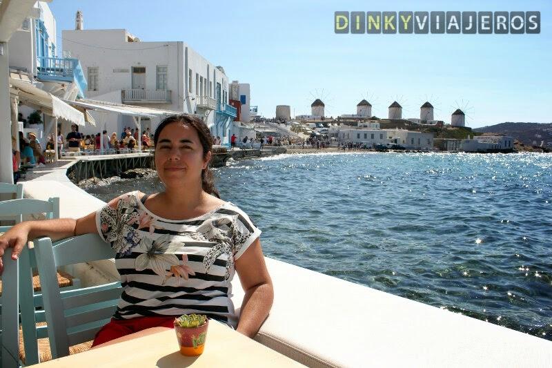Mykonos. Molinos vistos desde Pequeña Venecia